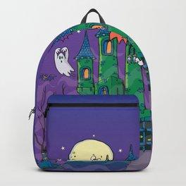 horror castle for Halloween night  Backpack