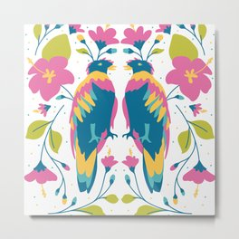 The two colourful birds Metal Print