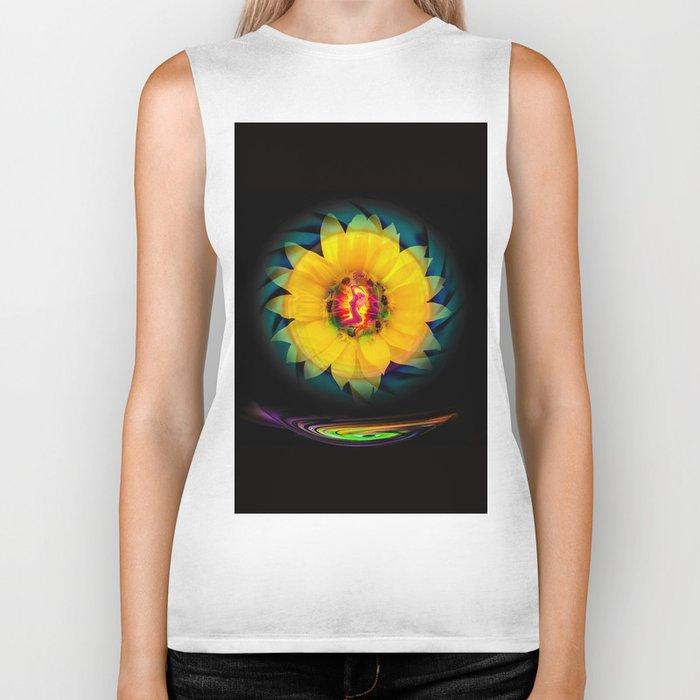Sunflower Love Biker Tank