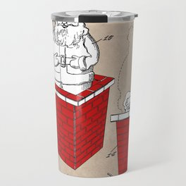 patent art Rubens Disappearing Santa in Chimney 1960 Travel Mug