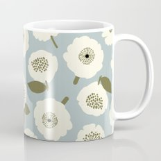 Floating Flowers Grey Mug