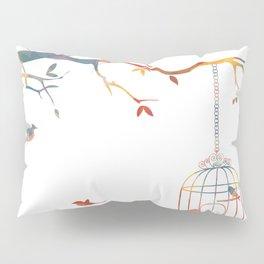 Red Textured Birdcage Pillow Sham