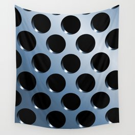 Cool Steel Graphic Art Like Polka Dots Wall Tapestry