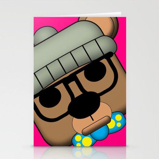 Hipster Bear Stationery Cards