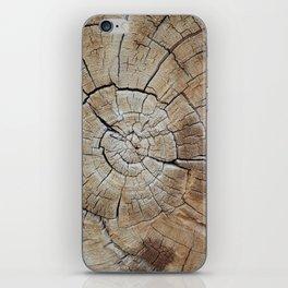 Tree rings of time iPhone Skin