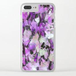 Confetti Lavender Tints Clear iPhone Case