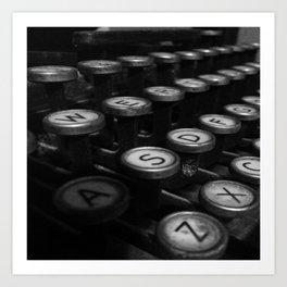 Old Typewriter Art Print