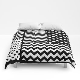 Mixed Patterns (Horizontal Stripes/Polka Dots/Wavy Stripes/Chevron/Checker) Comforters