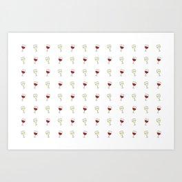 Red Wine, White Wine Art Print