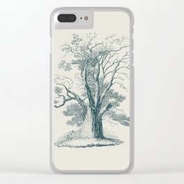 Antique Tree Illustration I Clear iPhone Case