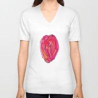 artsy V-neck T-shirts featuring Artsy Heart by Ingrid Padilla