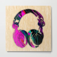 Headphones Metal Print