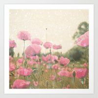 poppies Art Prints featuring POPPIES by Monika Strigel