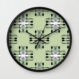 Silverware Pattern Wall Clock