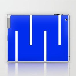 Abstract Minimal Retro Stripes Blue Laptop & iPad Skin