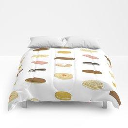 biscui - biscuit pattern Comforters