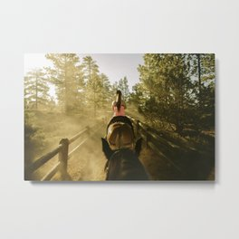 Exploring Utah by mule. Metal Print