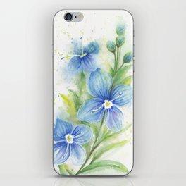 Veronica, Floral Watercolor iPhone Skin