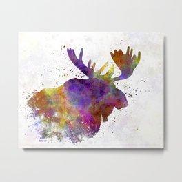Moose 04 in watercolor Metal Print