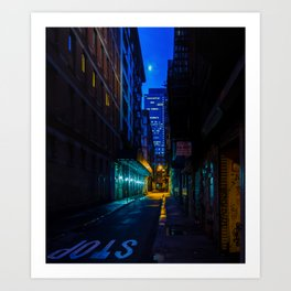 Back Alley Beauty Art Print