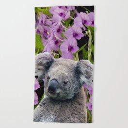 Koala and Coocktown Orchids Beach Towel