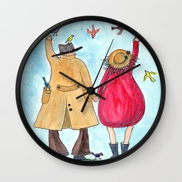 Feeding the Birds together with my Valentine Wall Clock