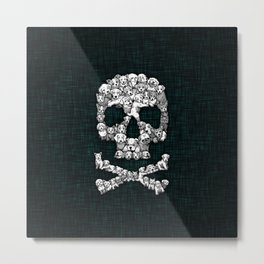 Skull Dogs Halloween Metal Print