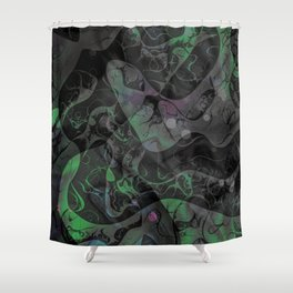 Abstract DM 04 Shower Curtain
