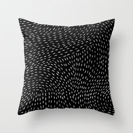 storm | black Throw Pillow
