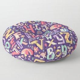 Alphabet Floor Pillow