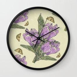 Retro Spring Crocus Carousel Wall Clock