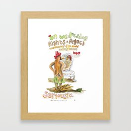 Agnes and the Chicken Suit Framed Art Print