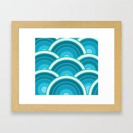 Japanese sea Framed Art Print