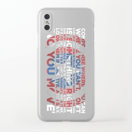 Civil War Quote Clear iPhone Case