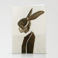 rabbit Stationery Cards featuring Rabbit by Ruben Ireland