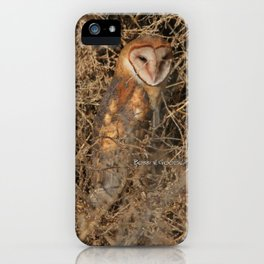 THE OLD BARN OWL iPhone Case