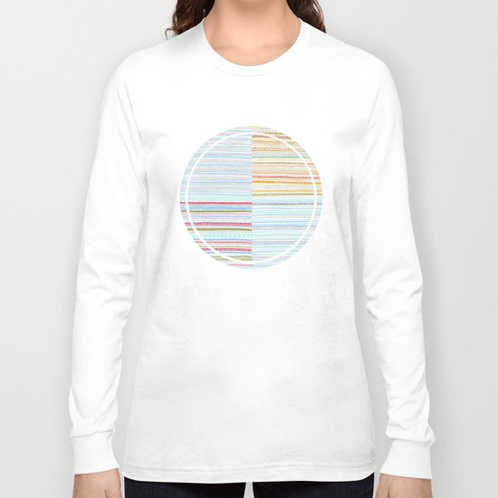 Pattern Mix Long Sleeve T-shirt