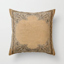Old Knotwork Paper Throw Pillow