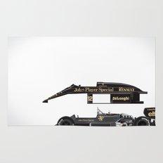Ayrton Senna, Lotus 98T-Renault, 1986 Rug