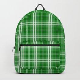 Christmas Green Tartan Plaid Check Backpack