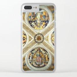 """Raffaello Sanzio da Urbino """"Ceiling of the Stanza della Segnatura"""", 1508-1511 Clear iPhone Case"""