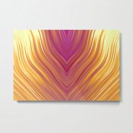 stripes wave pattern 3 lsi Metal Print
