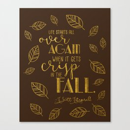 Crisp in the Fall Brown Canvas Print