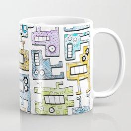 Pastel Tetris Monsters Coffee Mug