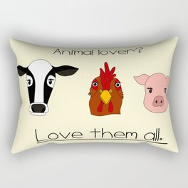 Animal lover? Rectangular Pillow