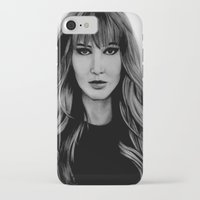 jennifer lawrence iPhone & iPod Cases featuring Jennifer Lawrence by Lydia Dick