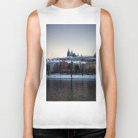 prague Biker Tanks featuring Prague Castle by Erik Witsoe Photography