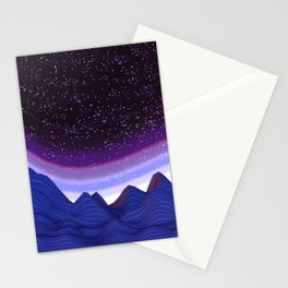 Mountains in Space Stationery Cards