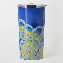 Blue Lillies Travel Mug