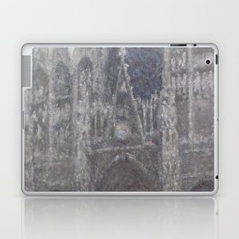 The Cathedral in Rouen. The portal, Grey Weather Laptop & iPad Skin